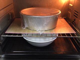 肉松奶酪面包卷-咸味,烤箱发酵档,底部放一碗热水,发酵60分钟。