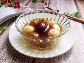 桂圆鹌鹑蛋红枣糖水,完成。
