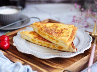 芒果酸奶三明治,成品图。