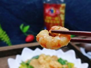好吃到舔盘子的~金牌虾仁炒面筋,吃一个虾仁太满足了~