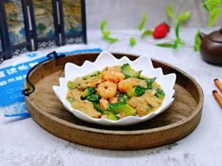 好吃到舔盘子的~金牌虾仁炒面筋,鲜美滑嫩的小炒。