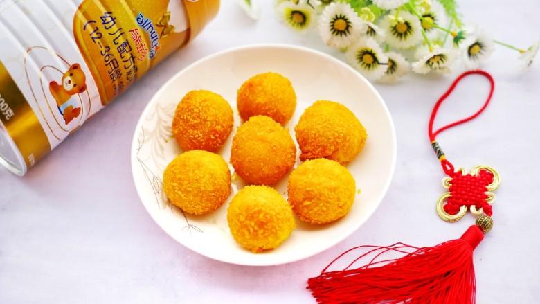 口感超赞的黄金红薯球