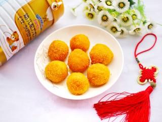 口感超赞的黄金红薯球,成品。