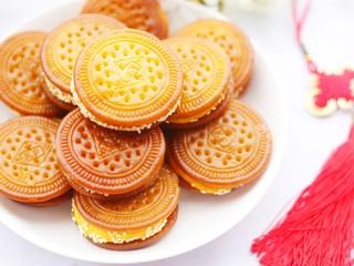 软糯香甜的红薯夹心饼,成品。