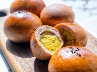 桑葚汁雪蜜红薯小面包,皮薄馅靓的…小面包😄😄