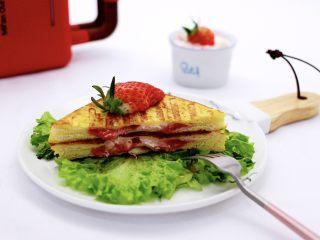 明目养肝的草莓酸奶三明治,成品一