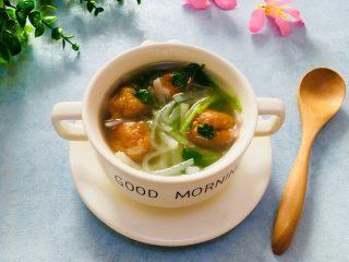 萝卜丝鱼丸汤,成品图