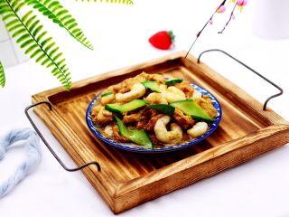 金牌虾仁黄瓜油面筋,好吃看得见。