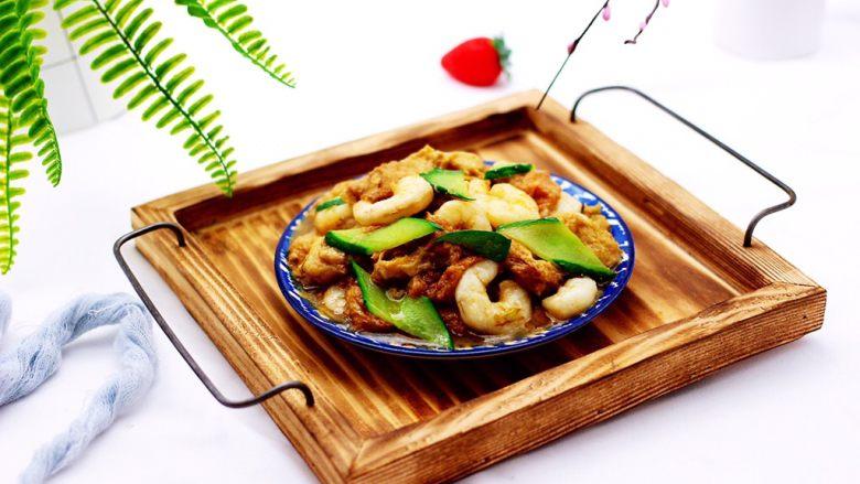 金牌虾仁黄瓜油面筋