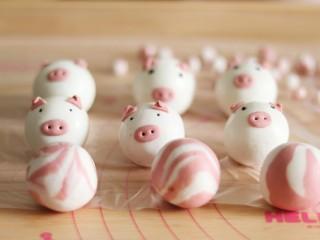 网红猪猪汤圆/花纹汤圆