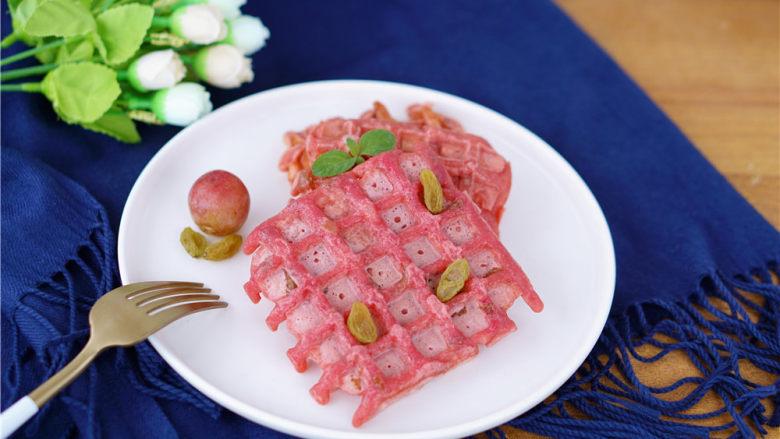 火龙果华夫饼