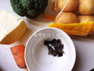 什锦炒素,食材。
