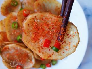 香辣孜然土豆片烤箱版,成品