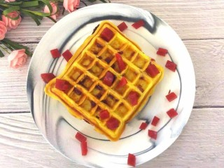 酸奶山楂糕华夫饼,营养美味,快捷方便的早餐