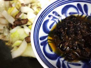 豆豉白菜酱油肉,下豆豉