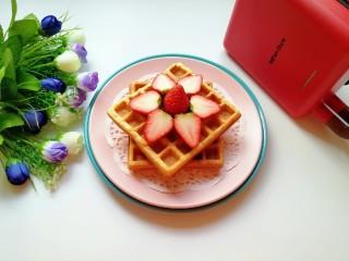 早餐华夫饼,宝贝的营养早餐妥妥的。