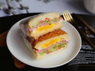 三明治~快手早餐,成品图。