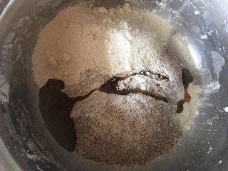 墨西哥卷饼,将所有材料放入盆里