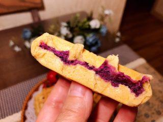 全麦粉紫薯馅华夫饼,看起来还不错吧!喜欢的朋友跟我一起来做吧!