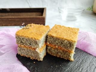黑米海绵蛋糕,黑米海绵蛋糕制作完成。