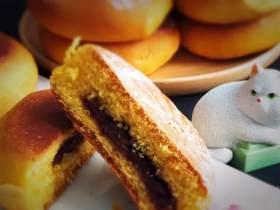 南瓜豆沙味喜饼