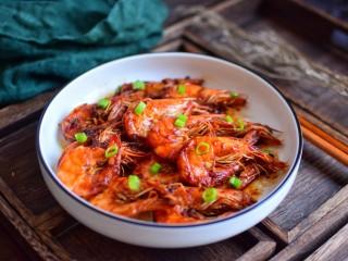 油焖大虾,成品图