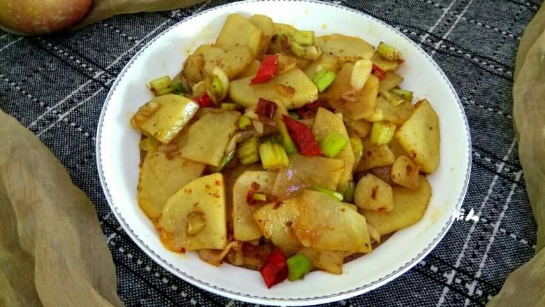 麻辣土豆片,成品图
