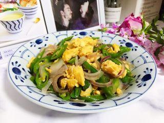 洋葱线椒炒鸭蛋