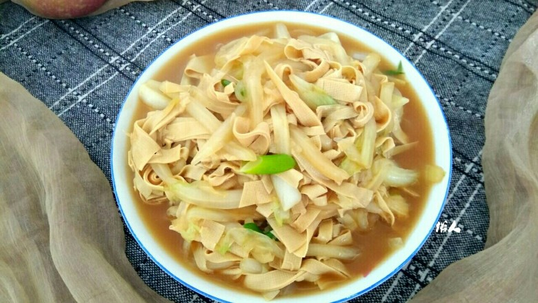 白菜烧干豆腐