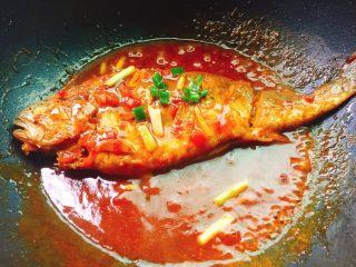 茄汁黄花鱼,让茄汁慢慢收汁