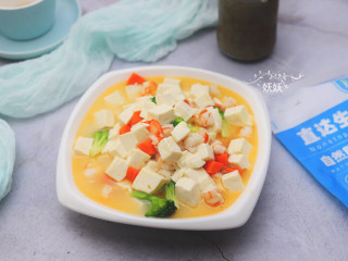 虾仁豆腐,成品