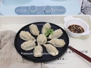 三鲜柳叶饺子,成品图