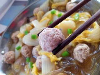 白菜肉丸炖粉条,成品