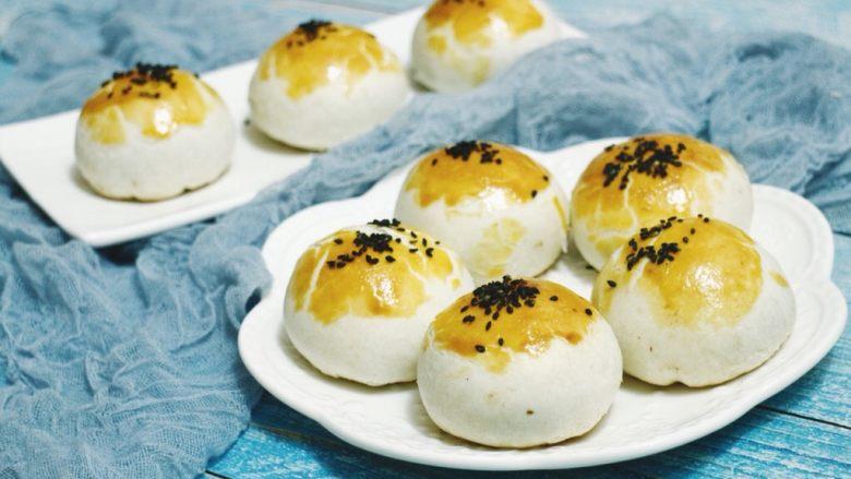 蛋黄酥(肉松麻薯蛋黄馅)