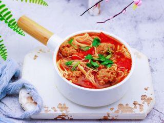 番茄肉丸汤,再来一张诱惑你。