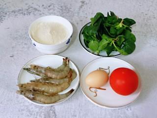 快手早餐~蝦仁時蔬面疙瘩,準備食材,量可以增減。
