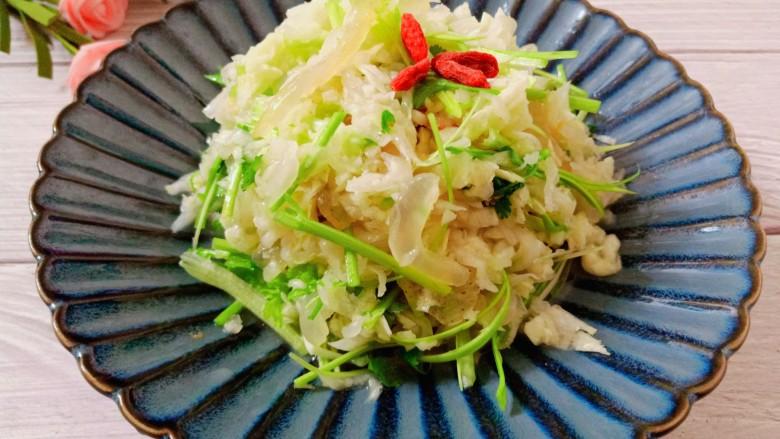凉拌白菜海蜇皮