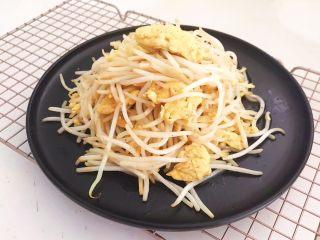 减脂快手菜  银芽炒蛋,银芽炒蛋出锅了