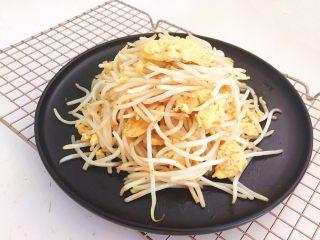 减脂快手菜  银芽炒蛋,银芽炒蛋清脆爽口,减脂素菜,营养丰富~
