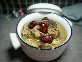 羊肚菌鸡汤,成品图