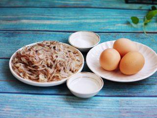 雪虾鸡蛋饼 (宝宝补钙佳品),主要食材:雪虾、鸡蛋、醋、盐。