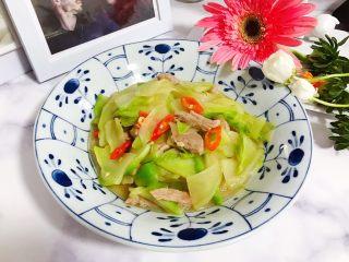 小米椒菜头炒肉片,成品图