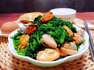 菠菜拌海虹,小凉菜怎么吃都好吃😋停不下来噢