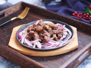 黑胡椒牛肉粒,成品图。