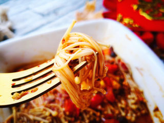 烤金针菇,鲜辣好吃
