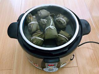 蜜豆糯米粽子,粽子煮熟了