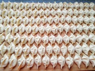 红油酸汤水饺,包成自己喜欢的形状。