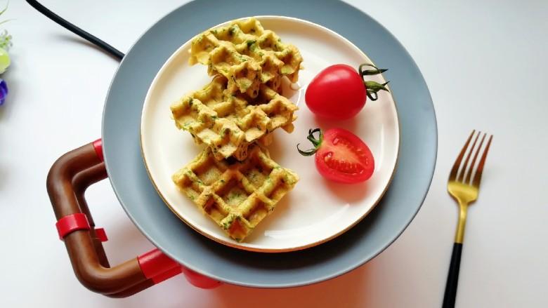 华夫鸡蛋饼,能量满满的一天从早餐开始。