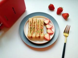 全麦蔬菜三明治,营养满分。