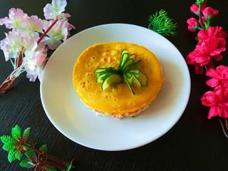 #微波炉食谱#三丁蒸蛋糕,成品图